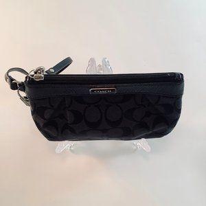 Coach Bags - COACH Signature Wristlet, Patent Leather Trim